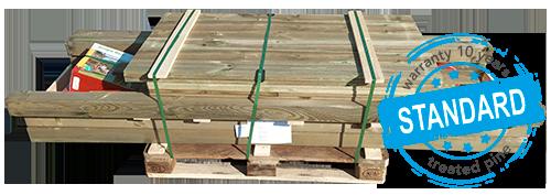 Pine timber pallet